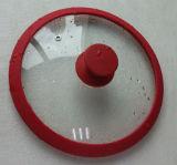 Vente chaude 22cm de la FDA ou silicone LFGB & couvercles en verre trempé