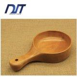 Su ordine Lungo-Trattare la ciotola della pizza della quercia scavata intero legno