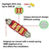 Canbus 꽃줄 LED 39mm 차를 위한 4014의 10SMD 12-24V LED 빛