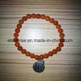 De semi Juwelen van de Armband van de Kornalijn van het Kristal van de Manier van de Edelsteen Aventurine Geparelde