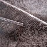 Ткань пушка Shammy замши золота фольги микро- для крышек софы