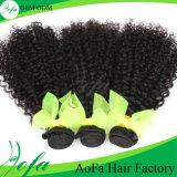 Волосы 100% Remy сырцовых человеческих волос волос Kinky курчавые бразильские
