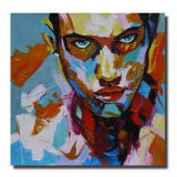 Pittura a olio di Nielly Francoise Reproductions su Canvas Portrait Knife Handmade 100% Abstract Art Wholesale