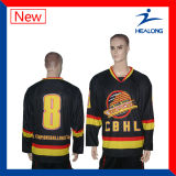 Jerseys coloridos del hockey sobre hielo de la sublimación de Healong