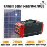 Generador solar ligero del sistema solar 270wh Batería del sistema de energía solar para el hogar