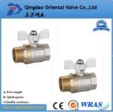 Pulgada de cobre amarillo aprisa conectada de la vávula de bola de la alta calidad ISO228 el 1/2 para el agua