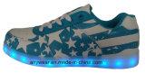 L'éclairage LED d'hommes de chaussures sportives folâtre les espadrilles de planche à roulettes de chaussures (816-9980)