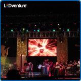 Alquiler a todo color de interior de la pantalla del gigante LED para los acontecimientos, partidos, conferencias, reuniones