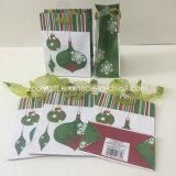 Taches Glitter Jingling Bell sac cadeau de Noël d'impression papier