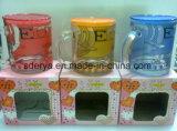 Tazza bevente della tazza di vetro glassato con la vendita calda Sdy-F00409 della decalcomania