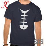 T-shirt estampé respirable d'hommes de Leasure de collet rond pour la pêche (QF-2205)