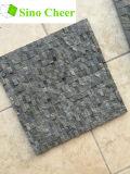 Cara de piedra dividida Negro suelo de mármol del mosaico del azulejo Diseños