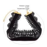 Doppio Handmade del merletto del Crochet del velluto della pelle scamosciata - collana del Choker di strato gotica per le donne
