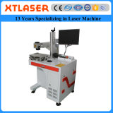 La máquina de la marca del laser de la fibra con rotatorio para la pierna del pájaro de la paloma suena la marca del laser de la fibra