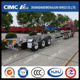 48FT Cimc HuajunアルミニウムSteelライトDuty Skeleton Container Trailer