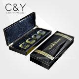 Cadre de empaquetage de modèle de parfum en bois à haute brillance arabe de laque