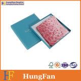Подгонянная коробка подарка бумаги способа для упаковывать шарфа