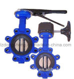 Oblate Butterfly Valve mit Worm Gear Manufacturer