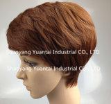 Peluca sintetizada del pelo del cortocircuito brillante del color para la sensación del pelo humano de la mujer