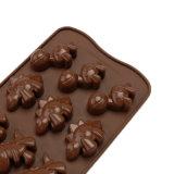 Nuevo producto certificado FDA Material de grado alimentario molde de silicona, molde de silicona con forma de dinosaurio /Molde de budín de chocolate