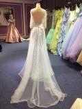 fora do vestido de noite do ombro para Wedding com parte traseira do buraco da fechadura