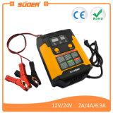 Suoer Chgarging PWM Reparação inteligente com visor LED 12/24V Carregador Solar (UM02-1224B)