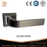 Aluminiumtür-Hebel-Verriegelungs-Verschluss-Griff auf quadratischer Rosette (AL206-ZR09)