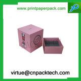 Eleganter Zoll gedruckter Papiergeschenk-Kerze-Kasten für das Verpacken