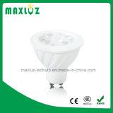 Venta caliente regulable SMD de 5W FOCO LED GU10 con lente