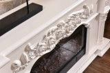 ホテルの家具TVの立場の彫刻の電気暖炉(318S)
