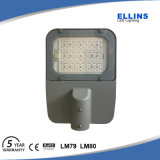 보장 5 년은 IP65 80W 크리 사람 LED 가로등을 방수 처리한다