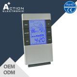Despertador da estação de tempo com tendência e umidade da temperatura