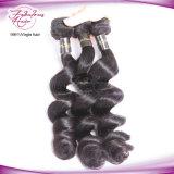 Перуанской ослабление волн 100% прав волосы вьются связки дважды не Weft Реми расширений волос