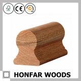 Barandilla oval de la escalera de madera sólida para la decoración