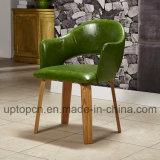 Restaurante madeira conjunto de móveis com cadeira estofada e atualizar a tabela sólido (SP-CT784)