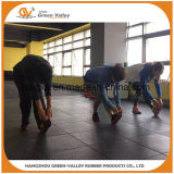 De schokbestendige RubberMat van de Tegel van de Vloer voor de Geschiktheid van de Gymnastiek