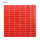 건축재료 선형 빨간 Backsplash 예술 유리제 모자이크 타일
