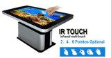 """55 """" LCD van het Scherm van de Aanraking Kiosk van de Vertoning van de Lijst van de Koffiebar van de Informatie van het Comité de Slimme Infrarode of Capacitieve Touchscreen van de Monitor,"""