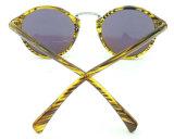 Gafas de sol redondas de la calidad de la lente del espejo UV400 del material plástico del marco F171080