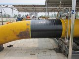 Das selbstklebende Tiefbauantikorrosion-Rohr-Verpackungs-Band, Bitumen PET Leitung-Band einwickelnd, das Butyl Polyäthylen imprägniern Band