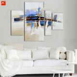 Het Abstracte die Olieverfschilderij van het impressionisme voor Huis wordt geplaatst