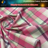 Цвет 6 в утке! Розовая ткань тканья пряжи полиэфира покрашенная сплетенная проверкой для платья
