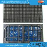 Visualización de pantalla al aire libre a todo color de la muestra de P5 SMD2525 LED para el edificio