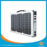 Recurso de potência solar portátil usando-se em alguma situação