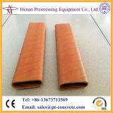 Dut plástico redondo y plano del HDPE acanalado tensor del poste