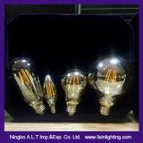 Bulbo baixo do filamento do diodo emissor de luz 2With4With6With8With10W e E27 vidro de G125
