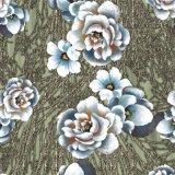 Tela de seda elegante da senhora Pingamento Digital Impressão Chiffon