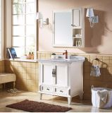 Het Europese Kabinet van de Ijdelheid van de Badkamers van de Stijl Witte Schilderende Houten (GSP9-005)