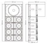 8 Zeile Reihen-PROaudio - Takt verdoppeln des Zoll-EV281 EV118s