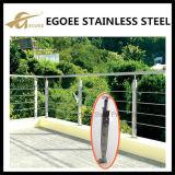 Pêche à la traîne en verre de balcon d'acier inoxydable, pêche à la traîne en verre d'escalier